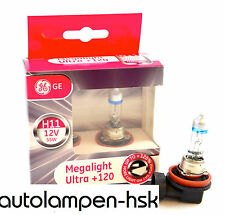 GE General Electric h11 Megalight Ultra +120% (!!!) 2 pezzi +++ Top +++