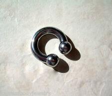 "Circular Barbell Horseshoe Ball Steel 5/8"" 2g PA Externally Threaded 10MM"
