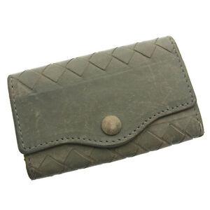 Bottega Veneta Key holder Key case Intrecciato Green Woman Authentic Used C686