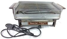 Vintage Master Chef Outdoors In Mini Kitchen Grill Countertop Indoor Electric