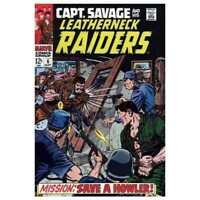 Captain Savage and His Leatherneck Raiders #6 in VG + cond. Marvel comics [*oh]