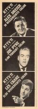 1967 KTTV  TV AD~JOE PYNE~ALEX DRIER~LES CRANE~LOS ANGELES TALK SHOW'S