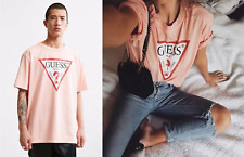 Guess Oversized Vintage Triangle Logo Unisex T-shirt