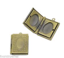 5 Pendentifs breloque Cadre de Photo Rectangle Bronze 21x19mm B22666