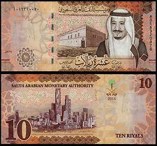 SAUDI ARABIA 10 RIYALS (P39) 2016 UNC