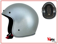 AFX FX 76 CASCO MOTO CAFE RACER CUSTOM VINTAGE HELMETH CHOPPER SILVER METAL