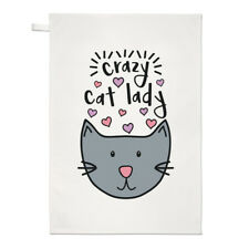 LUNA Crazy Cat Lady asciugamani Dish Cloth-FUNNY KITTEN