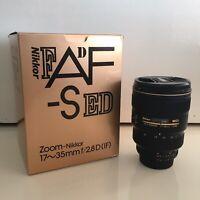 Nikon Nikkor AF-S 17-35mm F/2.8 IF ED AF-S Lens - Mint and Complete!