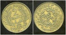 TUNISIE TUNISIA 2 francs  1945  ( ca )