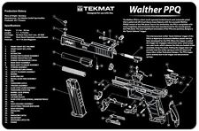 GUN CLEANING GUNSMITH BENCH LAP TOP MOUSE MAT TEKMAT for WALTHER PPQ 9MM PISTOL