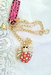 "Figural Spider  necklace - 26"" long"