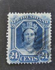 Newfoundland 1865 QV 24c used!!