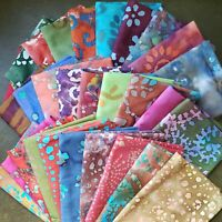Batik Fat Quarter  | Fabric Precut Cotton | Face Mask Quilting  | Set of 29