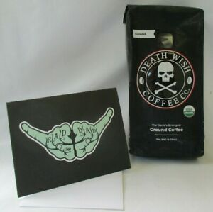 DEATH WISH COFFEE FATHER'S DAY CARD AND 1 LB DW GROUND COFFEE