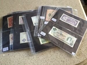 Collection of 123 Foreign early bank notes mainly uncirculated all in sleeves.