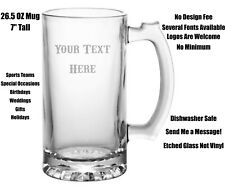 Personalized Etched Beer Mug, Custom Mug, Dads, Husbands, Groom, Bachelor, Gift