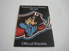 2001/02 AHL DEFUNCT PORTLAND PIRATES POCKET SCHEDULE***DUNKIN DONUTS***