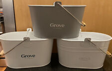 Grove Collaborative Cleaning Caddy set of 3 White and Grey