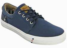 Mens Wrangler Canvas Trainers Shoes Size Uk 6 - 12 Grey Navy White Starry Low-Blue-Uk 10 (eu 44) Pjs4X