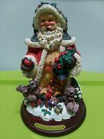 "Christmas Collection Santa St. Nicholas 8"" Figurine Christmas Presents Squirles"