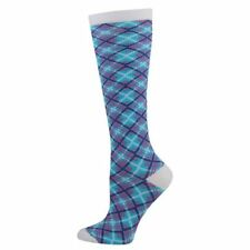 Angled Plaid Medical Nurse 10-14mmHG Fashion Compression Socks