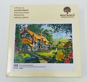 Wentworth Wooden Jigsaw Puzzle - The Summer Thatchers (140 Wooden Pieces)