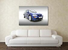 Ford Escort RS Cosworth - 30x20 Inch Canvas Art Framed Picture Print