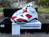 Nike Air Jordan 6 Carmine 2014 With Receipt VI Retro Red White 384664-160 DS