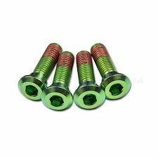 4x Kawasaki ZZR1400 2006-2011 Green Titanium Rear Disc Rotor Bolts Threadlock