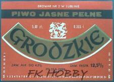 Poland Brewery Lublin Grodzkie Beer Label Bieretikett Etiqueta Cerveza lu50.1