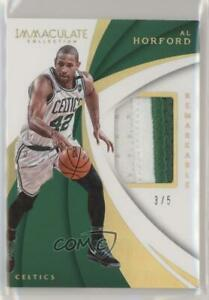 2017-18 Panini Immaculate Remarkable Memorabilia Gold /5 Al Horford #RM-AHF