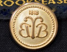 Brooks Brothers 1818 Country Club Gold Brass Blazer Sleeve Button Authentic USA