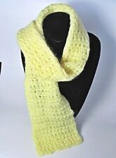 NWOT Crochet Yellow Mohair,Acrylic Yarn Scarf,No Fringe 6 x 48