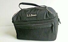 """LL Bean Black/ Gray Hiking Snack Camera Bag 9.5"""" X 6.5"""" x 5"""""""