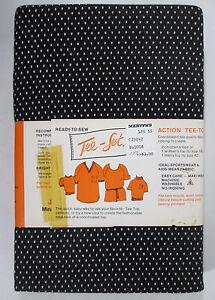 "vintage Polyester Cotton Fabric 1¼ Yd x 60"" Black w/ White Dots MISSING RIBBING"