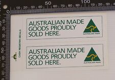 VINTAGE AUSTRALIAN MADE GOOD PROUDLY SOLD HERE SHOP ADVERTISING PROMO STICKER