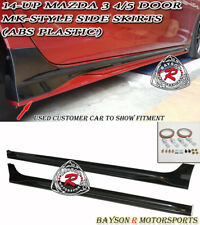 MK-Style Side Skirts (ABS) Fits 14-18 Mazda 3 4/5dr