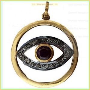 Fresh Evil Eye Antique Design Pendent Onex & Pave Diamond 925 Sterling Sliver