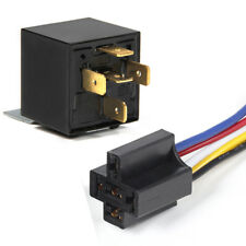 12V Automotive Changeover Relay with Bracket 40A 5-Pin for Car Bike Van +Socket