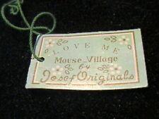 "Vintage Josef Originals Mouse Hang Tag Only ""Love Me"" For Mouse Village"