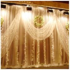 6Mx3M LED Luz de cuerdas de cortina de Hadas Luces De Pared Colgante telón de fondo de Boda Fiesta