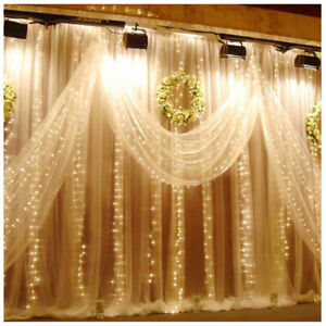 Waterproof Lamp 200~600 LED Curtain Fairy String Lights Wedding Party Decoration