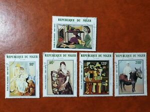 Niger  - 1981 - painting by Picasso   - 5 stamps set - used