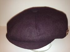 PEAKY BLINDER DARK BURGUNDY NEWSBOY PAPERBOY CABBY BAKER BOY 8 PIECE DRIVING CAP