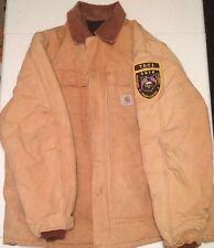 Mens CARHARTT Sz 48 XL INSULATED Barn RANCH Jacket Toledo Prison Guard Patch