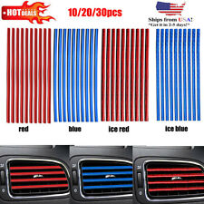 10/20Pcs Car Truck Accessories AUTO Air Conditioner Outlet Vent Decoration Strip
