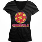 Venezuela Stars Soccer Ball Venezuelan Country Team Born Juniors V-Neck T-Shirt