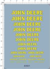 decals JOHN DEERE for different scales (63901)