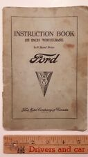 1934 FORD  - Original Owners Manual/Instruction Book - Good Condition (CDN)