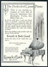 1912 Kranich & Bach grand piano art vintage print ad